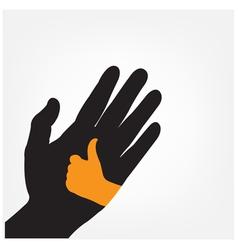 hand iconhand symbol vector image