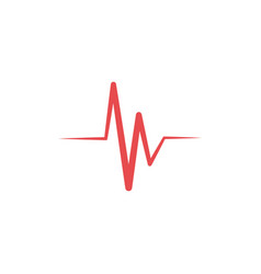 Heartbeat icon design template isolated vector
