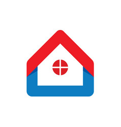 Home with window logo vector