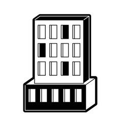 hotel building icon black silhouette vector image