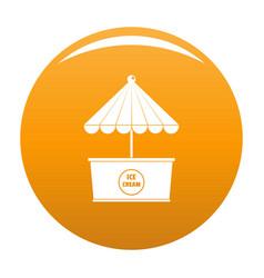 Ice creme icon orange vector