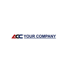 Initial acc logo template icon for business vector