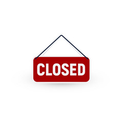 Isolated closed door tablet sign no enter vector