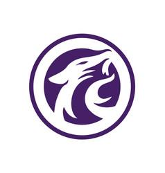 jaguar power logo concept vector image