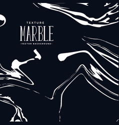 Liquid marble texture in black and white color vector