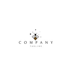 Logo on which an abstract image a bee vector