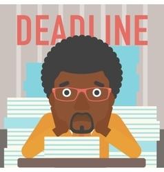 Man having problem with deadline vector