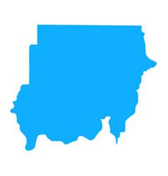 map sudan vector image