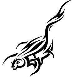 Marten in tribal style - vector
