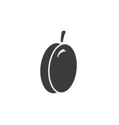 monochrome isolated plum icon on white background vector image
