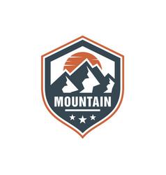Mountain nature scenery emblem logo vector