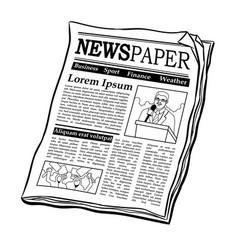 Newspaper coloring book vector