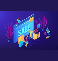 online sales pro concept isometric vector image
