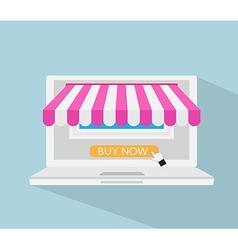Online store online shopping e-commerce concept vector