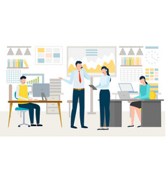 people working in company workspace team vector image