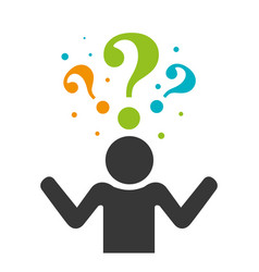 Person silhouette with question mark vector