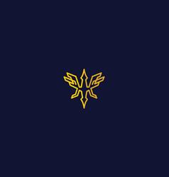 Phoenix line art logo icon vector