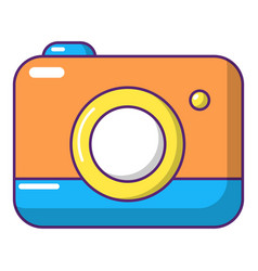 Photo camera icon cartoon style vector