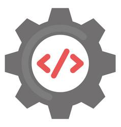 programming seo flat icon vector image