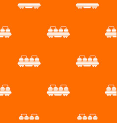 rail wagon for cement pattern seamless vector image