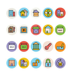Real Estate Icons 3 vector