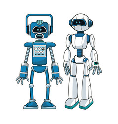 Robots futuristic engineer design vector