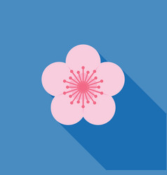 sakura icon vector image vector image
