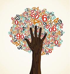 School education concept tree vector