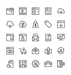 SEO and Marketing Outline Icons 1 vector