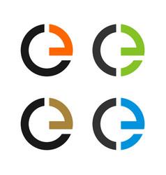 set e letter logo template vector image