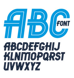 Set regular upper case english alphabet vector
