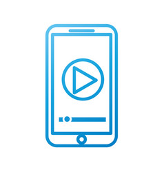 smartphone player button app connection internet vector image