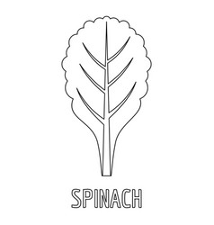 spinach icon outline style vector image