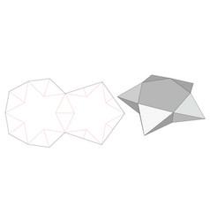 Star shaped box die cut template vector
