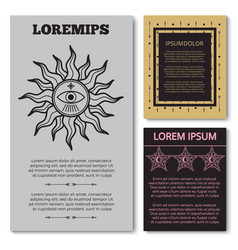 Stylish esoteric cards collection with mystery vector