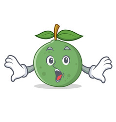 Surprised guava mascot cartoon style vector