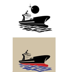 transport ship symbol vector image