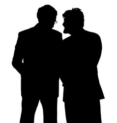 two businessmen discreet conversation vector image