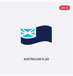 two color australian flag icon from culture vector image