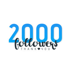 Two thousand followers banner vector