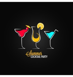 Cocktail summer party design menu background vector