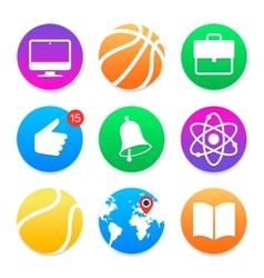 Education icons School symbols set vector image
