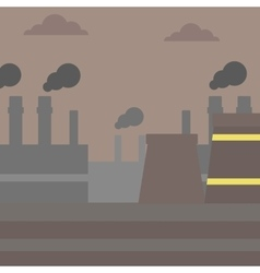 Industrial power plant vector image