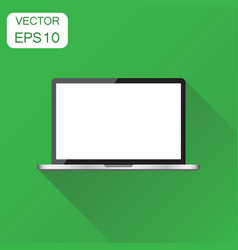 laptop with white screen icon business concept vector image