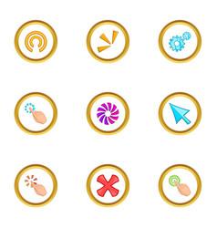 loading cursor icons set cartoon style vector image vector image
