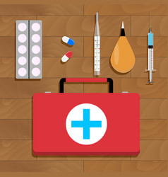 medical cure and tools vector image