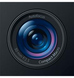 photo camera lens vector image