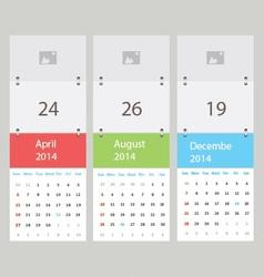 Three calendar vector