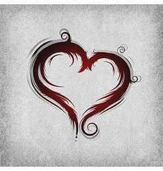heart baroque red background vector image