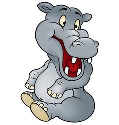 Sitting hippo vector